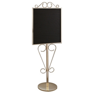 """Standing Scrollwork Directory in Mirror Brass Finish - 22"""" x 28"""", 87525"""