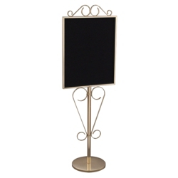 """Standing Scrollwork Directory in Gloss Brass Finish - 22"""" x 28"""", 87526"""