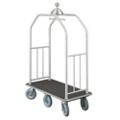 "Ball Crown Six Wheel Bellman Cart - 49.5""W, 87535"