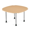 """Square Dining Table  with Caregiver Cut-Outs - 48""""W, 21347"""