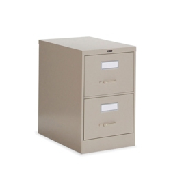 "Heavy-Duty Two Drawer Letter Vertical File 26-1/2""D, 34006"