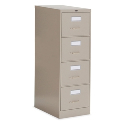 "Heavy-Duty Four Drawer Letter Vertical File 27""D, 34007"