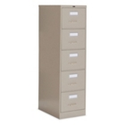 "Heavy-Duty Five Drawer Letter Size Vertical File - 26-1/2""D, 34008"