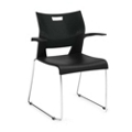 Sled Base Chair with Arms, 51357