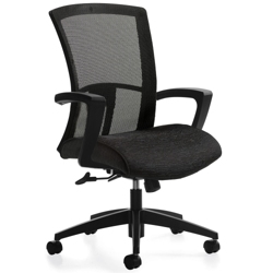 Mesh Back Fabric Seat High Back Task Chair, 57095