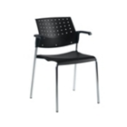 Sonic Stack Chair with Arms, CD00391
