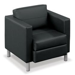 Citi Leather Club Chair, 75491
