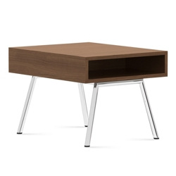 "Modern End Table with Storage - 25""W x 20""D, 75680"