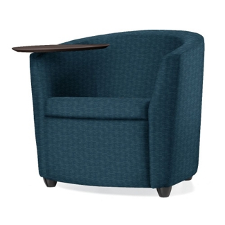 Fabric or Vinyl Round Tablet Arm Chair, 75684