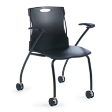 Plastic Nesting Chair with Arms, 75690