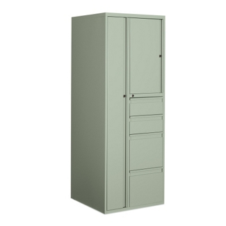 "65""H Left Personal Storage and Wardrobe Cabinet, 75691"