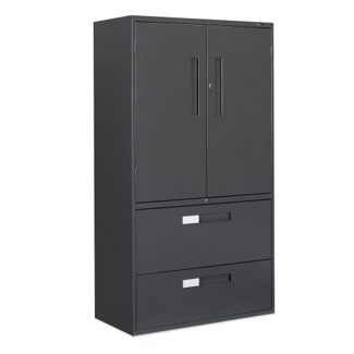 "36""W 2 Drawer Lateral File with Storage Cabinet, 75695"