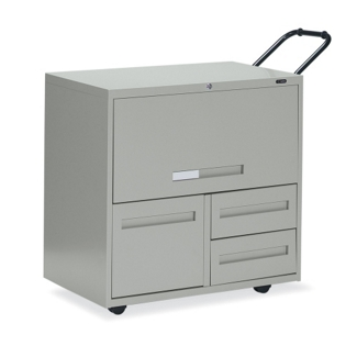 """30""""W 3 Drawer Mobile Personal File with Storage, 75701"""