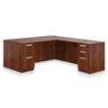 "Contemporary Executive L-Desk - 71"" x 81"", 14656"