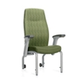 Patient Chair with Rear Casters and Flip Arms, 26205