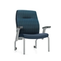 Bariatric Patient Chair with Rear Casters and Flip Arms, 26209