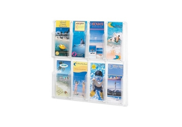 Literature Rack with Acrylic Front 8 Brochure Pockets, 33039