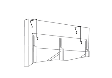 Set of Partition Hangers for Literature Rack, 33050