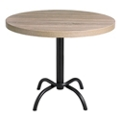 "Round Table with Metal Base - 30""DIA, 46094"