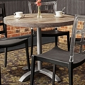 "Round Table with Aluminum Pedestal Base - 30""DIA, 46168"