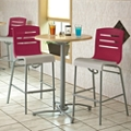 One Bar Height Table and Two Stools, 46213
