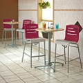 Two Bar Height Tables and Four Stools, 46214