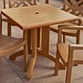 "Faux Teak Outdoor Square Table - 32""W, 46219"