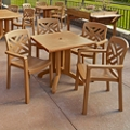 "36""W Square Table and Four Chairs, 46222"