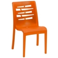 Outdoor Armless Stacking Chair with Wedge Back, 51057