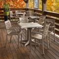 Five Piece Table and Chairs Outdoor Dining Set, 82313