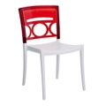 Stacking Chair with Transparent Back, 51586