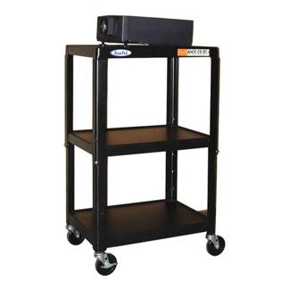 Adjustable Height Steel AV Cart, 43181
