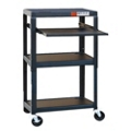 Adjustable Height Steel AV Cart with Laptop Tray, 43182