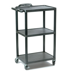 Adjustable Height Plastic AV Cart, 43183