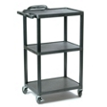 Adjustable Height Plastic AV Cart, 43183