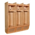Open Front Wood Locker - 3 Wide, 31855