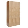 Single Tier Wood Locker - 3 Wide, 31857