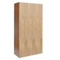Single Tier Wood Locker - 3 Wide, 31857