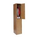 Double Tier Wood Locker, 31858