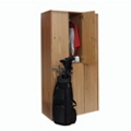 Double Tier Wood Locker - 3 Wide, 31859