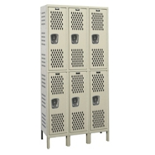 "54""W x 21""D Two Tier Ventilated Locker, 36082"