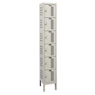 "Assembled 12""W x 15""D Six Tier Ventilated Locker, 36103"