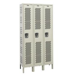 """Assembled 36""""W x 18""""D Single Tier Ventilated Locker, 36107"""