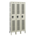 "Assembled 45""W x 15""D Single Tier Ventilated Locker, 36108"