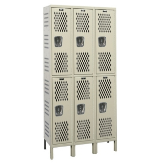"Assembled 45""W x 15""D Two Tier Ventilated Locker, 36116"