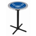 "Military Logo X-Base Table - 28""DIA x 36""H, 44686"