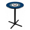 "Military Logo X-Base Table - 36""DIA x 36""H, 44688"