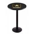 "Military Logo Disc Base Table - 28""DIA x 42""H, 44691"