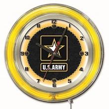 "Military Logo Neon Clock - 19"" Dia., 82159"