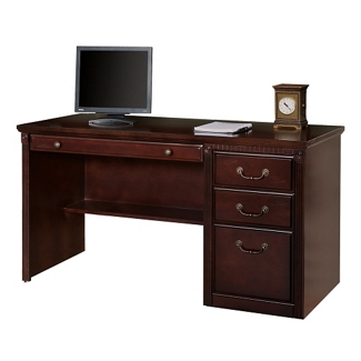 "Single Pedestal Desk - 56""W, 10150"